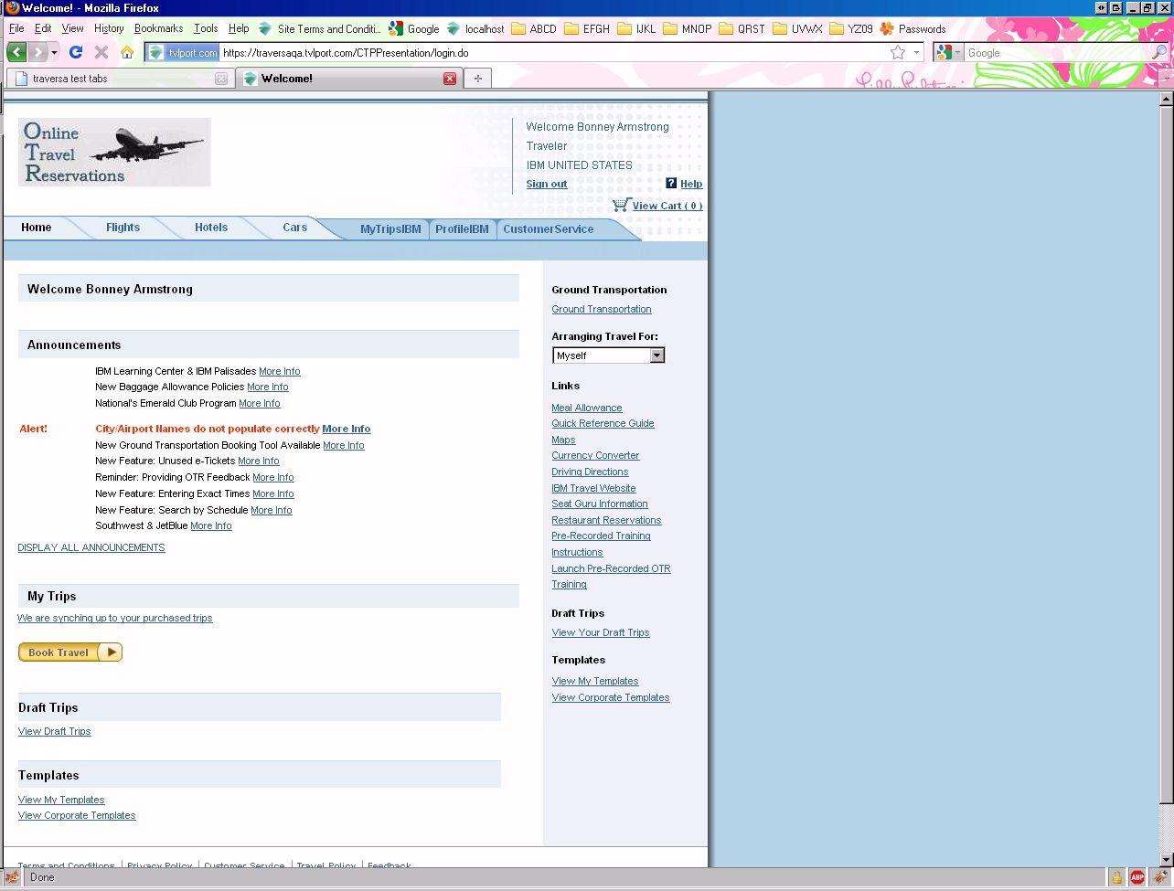 orbitz login page